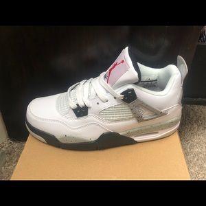 Air Jordan Retro 4 White Cement